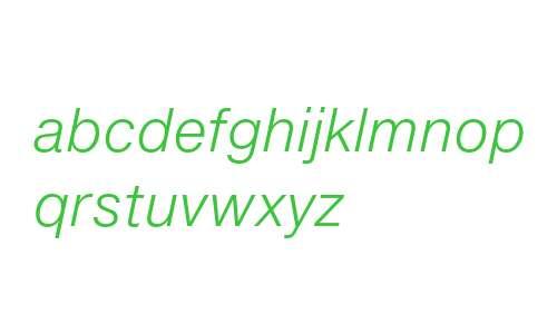 Helvetica Neue eText Pro Light Italic