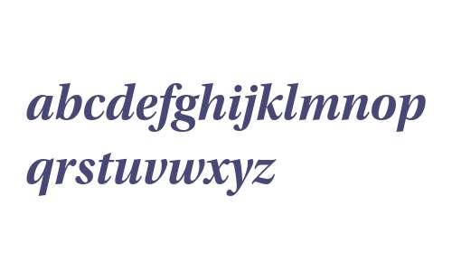 Utopia Std Bold Subhead Italic