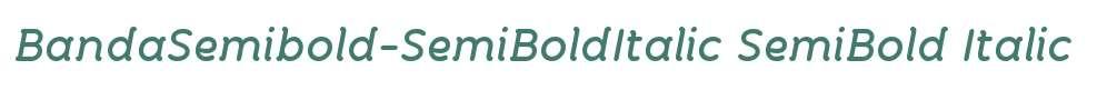 BandaSemibold-SemiBoldItalic