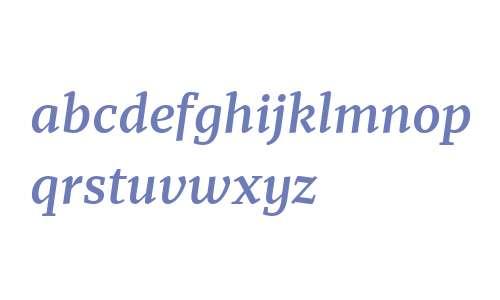 Recia W03 Semibold Italic