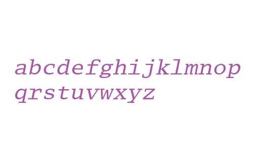 Lucida Typewriter Oblique