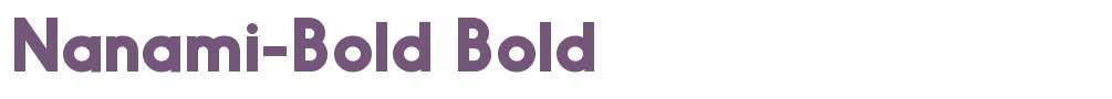 Nanami-Bold