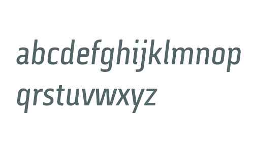 Via Sans W03 Italic