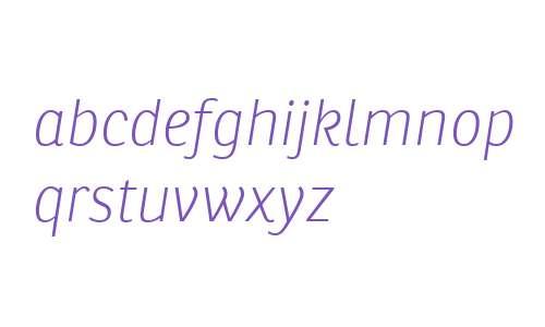 Ronnia W02 Thin Italic