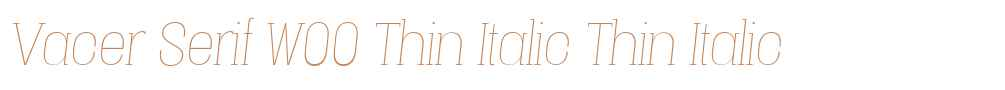 Vacer Serif W00 Thin Italic
