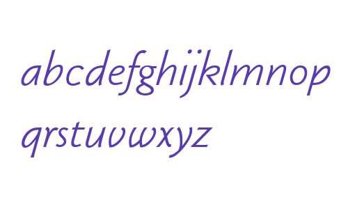 KlassikaLig W00 Italic