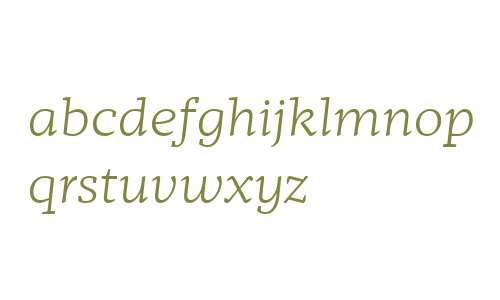 Mafra W04 Light Italic