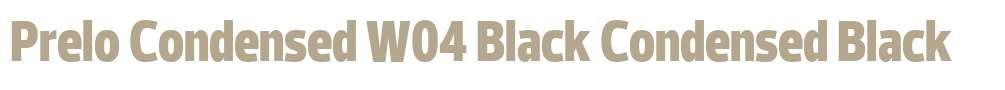 Prelo Condensed W04 Black