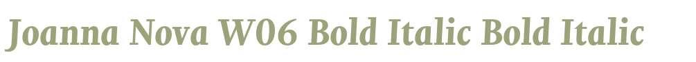 Joanna Nova W06 Bold Italic