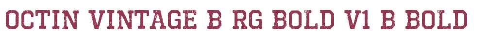 Octin Vintage B Rg Bold V1
