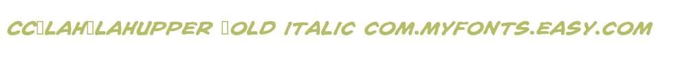 CCBlahBlahUpper Bold Italic