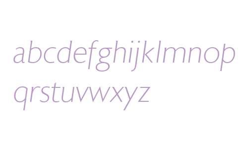 Astoria W00 Extra Light Italic