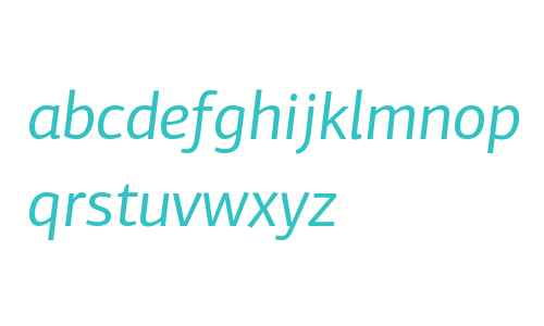 PF Centro Sans W01 Italic