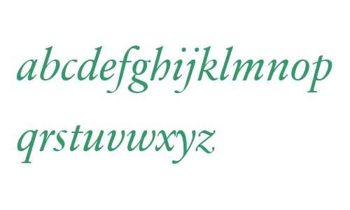 Sabon Next LT W04 Italic