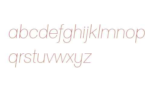 Clasica Sans W00 Thin Italic