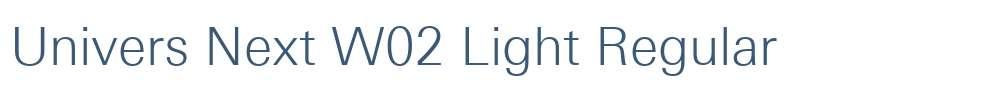 Univers Next W02 Light