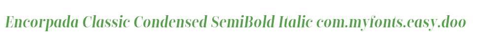 Encorpada Classic Condensed SemiBold Italic
