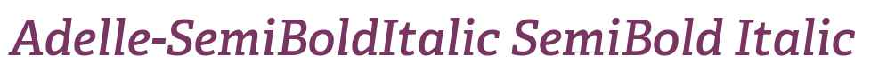 Adelle-SemiBoldItalic