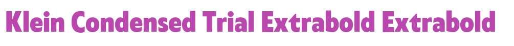 Klein Condensed Trial Extrabold