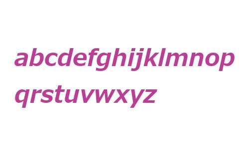 Meiryo UI W53 Bold Italic