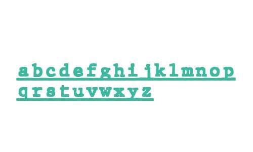 JMH Typewriter mono Black Under Regular