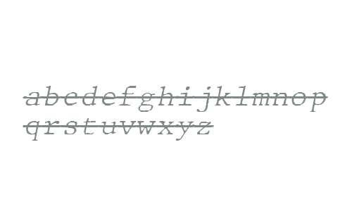 JMH Typewriter mono Fine Over Italic