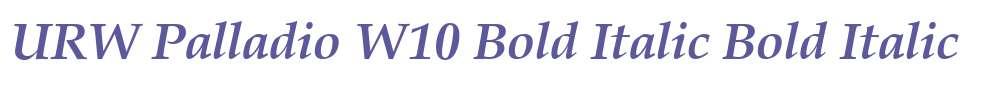 URW Palladio W10 Bold Italic
