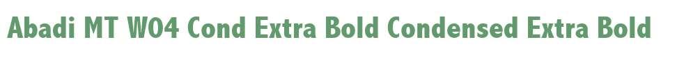 Abadi MT W04 Cond Extra Bold