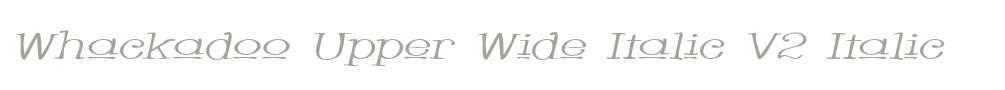 Whackadoo Upper Wide Italic V2