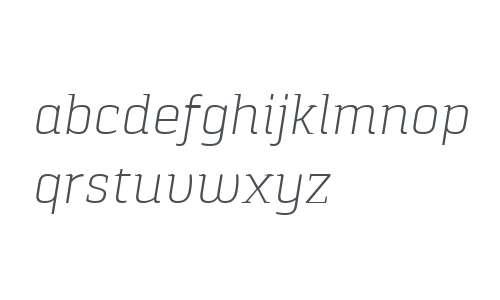 Pancetta Serif Pro ExtraLight Italic