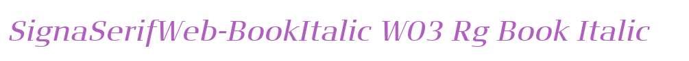 SignaSerifWeb-BookItalic W03 Rg