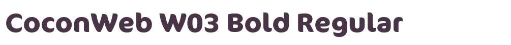 CoconWeb W03 Bold