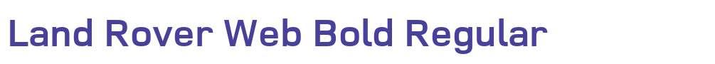 Land Rover Web Bold