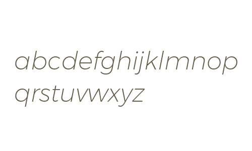 Gontserrat ExtraLight Italic