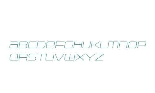 Uniwars W00 ExtraLight Italic
