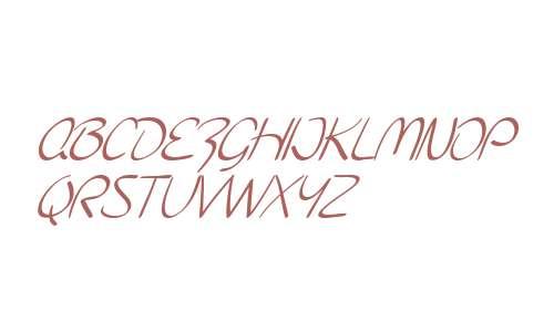 SF Burlington Script SC Italic V2 V1