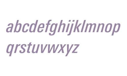 LinotypeUnivers-CondMediumItalic