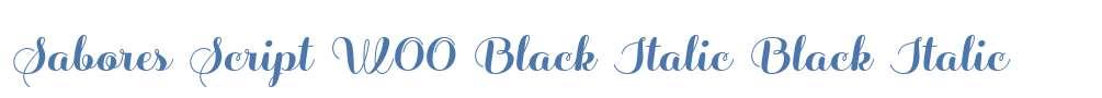 Sabores Script W00 Black Italic