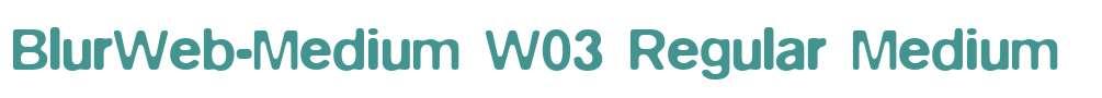 BlurWeb-Medium W03 Regular