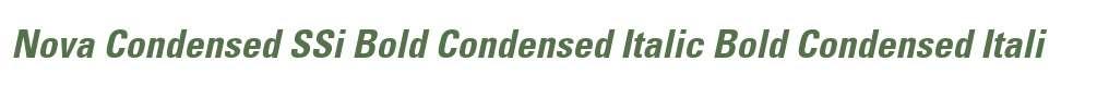 Nova Condensed SSi Bold Condensed Italic