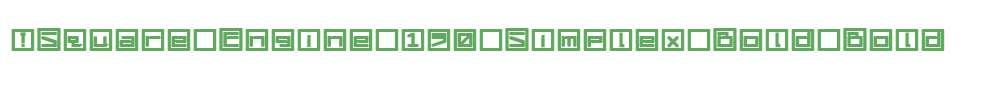 !Square Engine 150 Simplex Bold