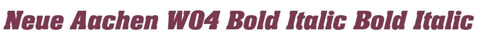 Neue Aachen W04 Bold Italic