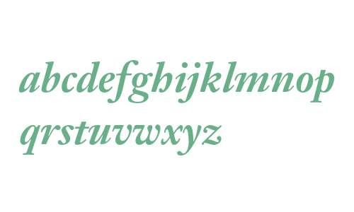 Janson Text LT Std 76 Bold Italic