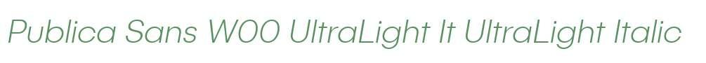Publica Sans W00 UltraLight It