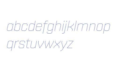 Shentox W01 Thin Italic