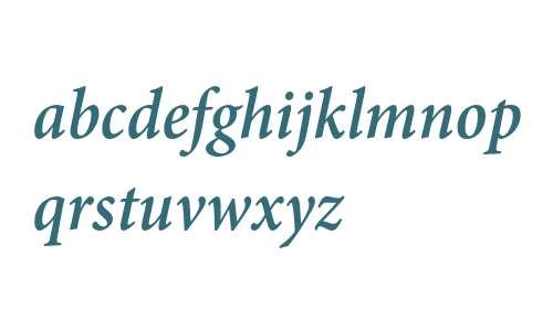Minion Pro Semibold Cond Italic