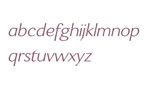 Enzia W00 Light Italic