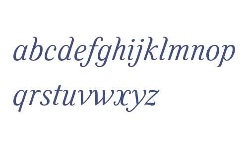 Felice W01 Light Italic