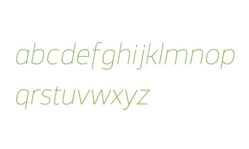 Webnar W00 Thin Italic
