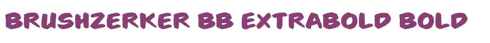 Brushzerker BB ExtraBold